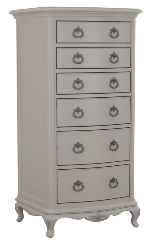 Willis and Gambier Etienne Grey 6 Drawer Tall Boy Chest