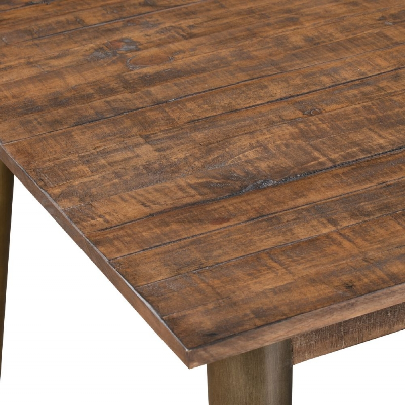 Hill Interiors Havana Brown and Gold Dining Table