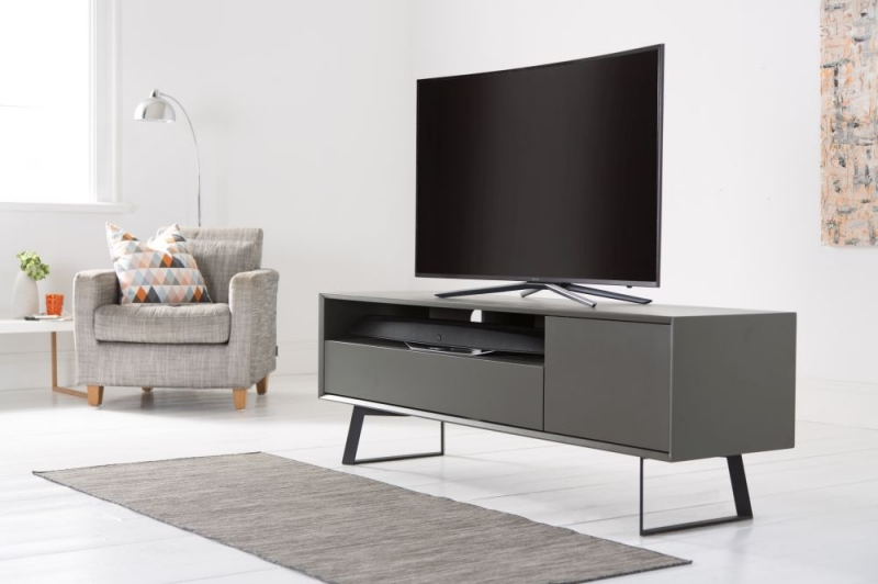 Alphason Carbon Grey TV Cabinet 70inch - ADCA1600-GRY