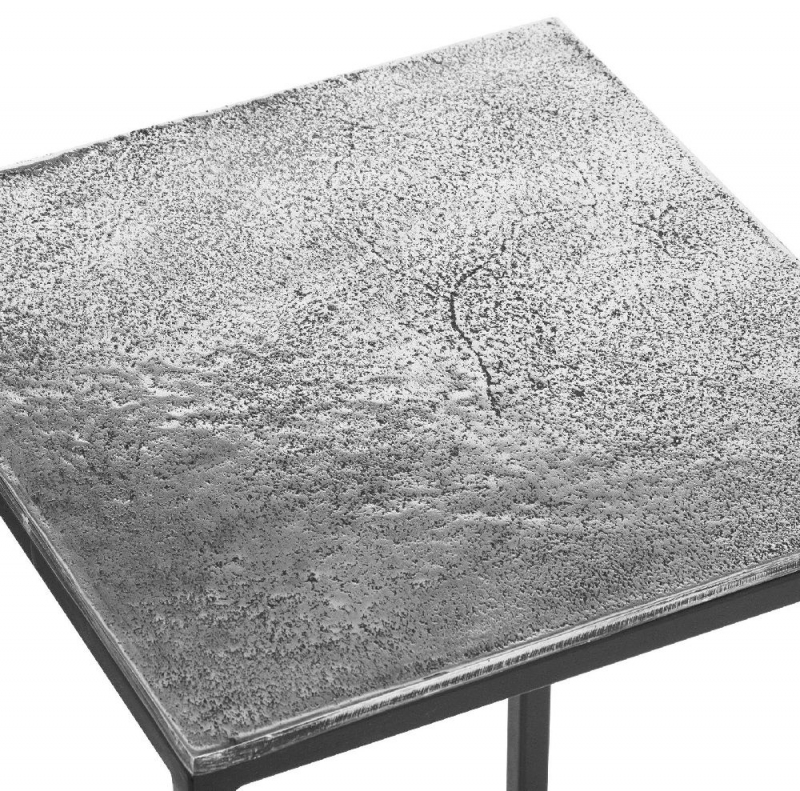 Hill Interiors Cast Silver Nest of 3 Tables