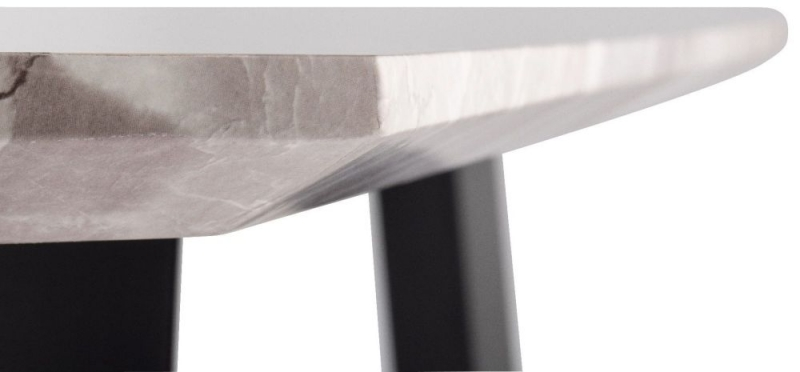 Narrowsburg Marble Effect Square Side Table