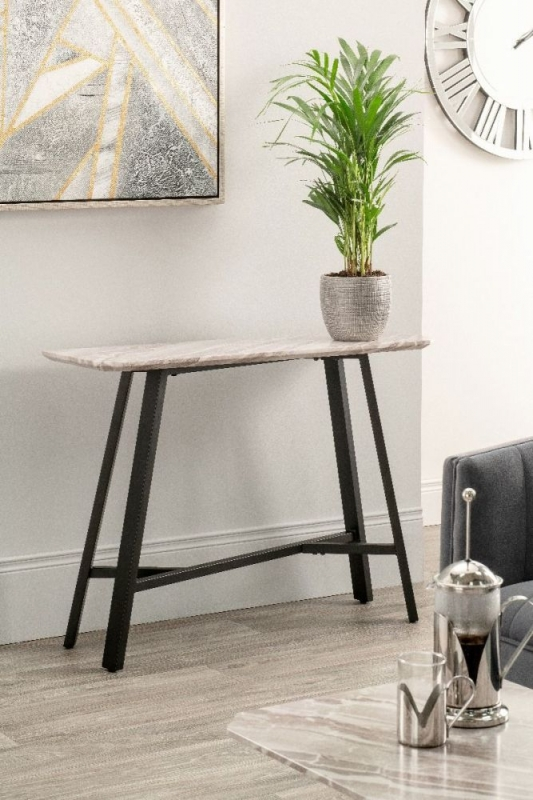 Narrowsburg Marble Effect Console Table
