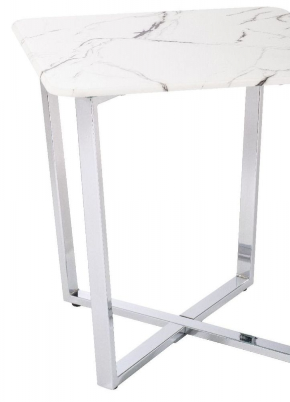 Selmont Marble Effect Square Side Table