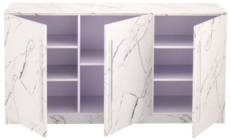 Selmont Marble Effect Large Sideboard