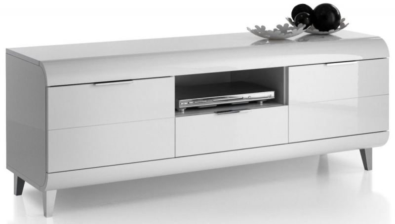 Valle White High Gloss Large TV Unit