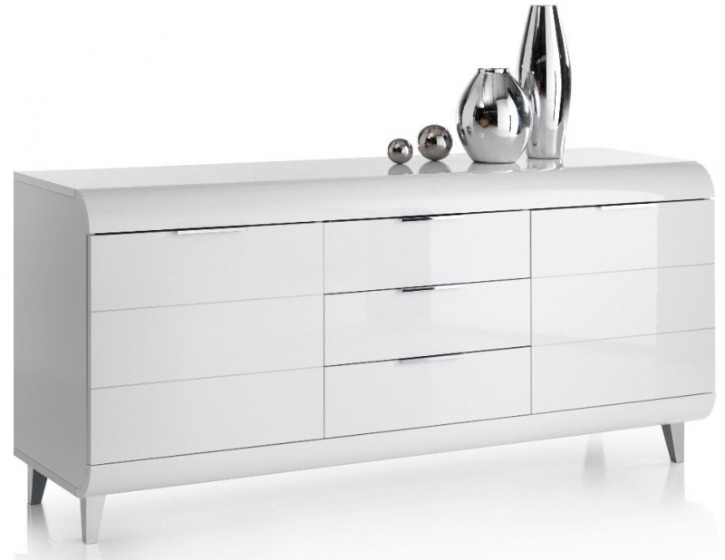 Valle White High Gloss Sideboard