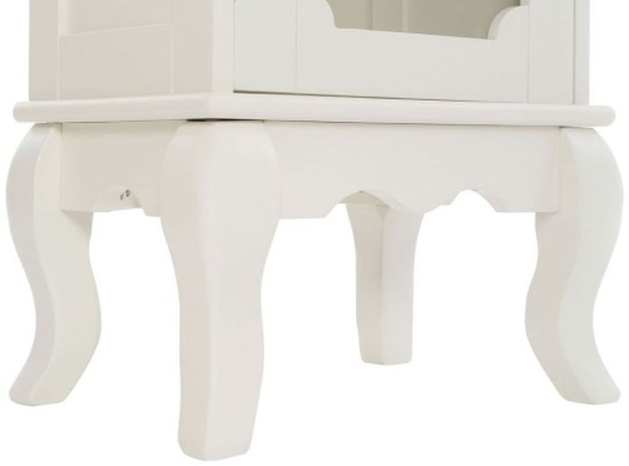 Clearance - Marcella Ivory Tall Bathroom Cabinet - New - FS873
