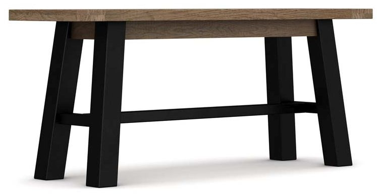Wilber Oak Industrial Dining Bench