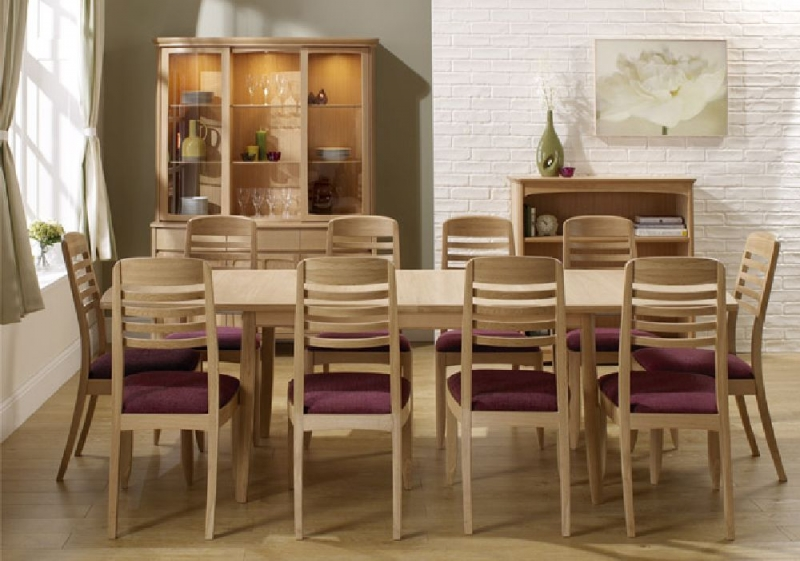 Nathan Shades Oak Boat Shaped Large Extending Dining Table