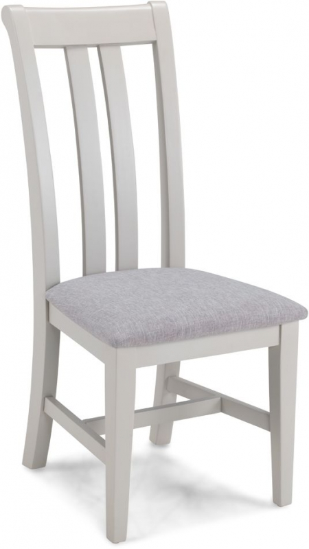 Shallotte Grey Painted Upholstered Dining Chair (Pair)