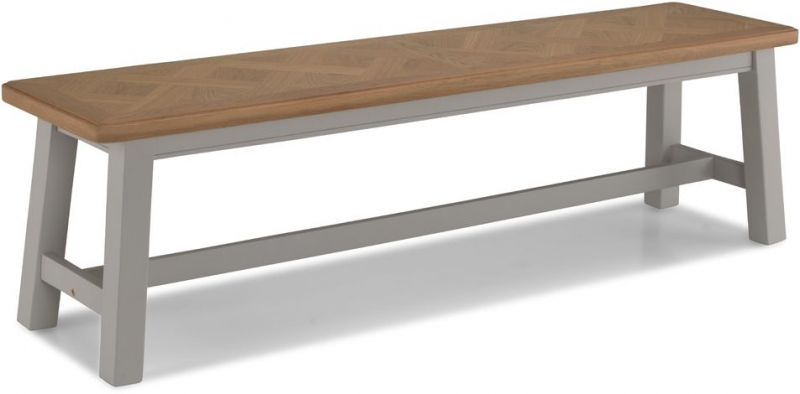 Shallotte Grey Painted Dining Bench