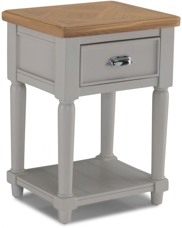 Shallotte Grey Painted Lamp Table