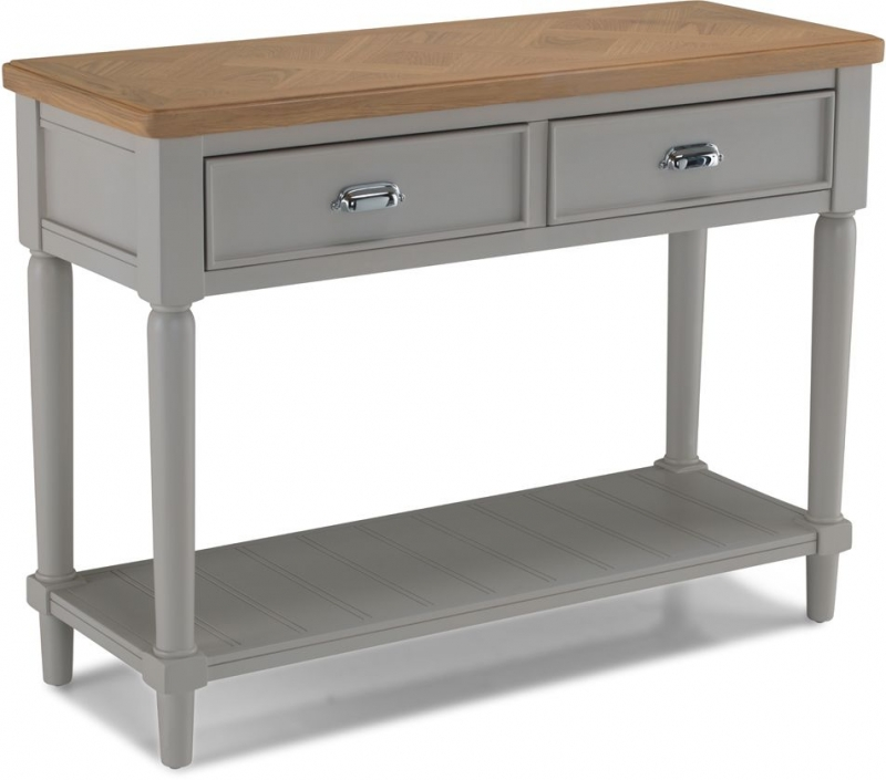 Shallotte Grey Painted Console Table
