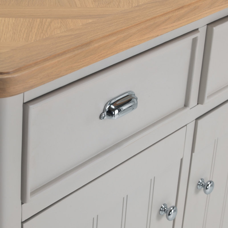 Shallotte Grey Painted Dresser with Winerack