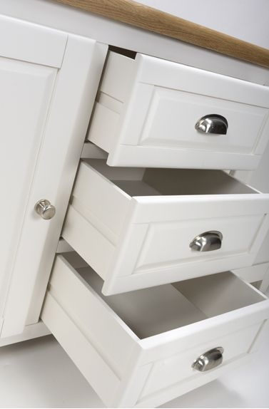 Portland White Painted Sideboard