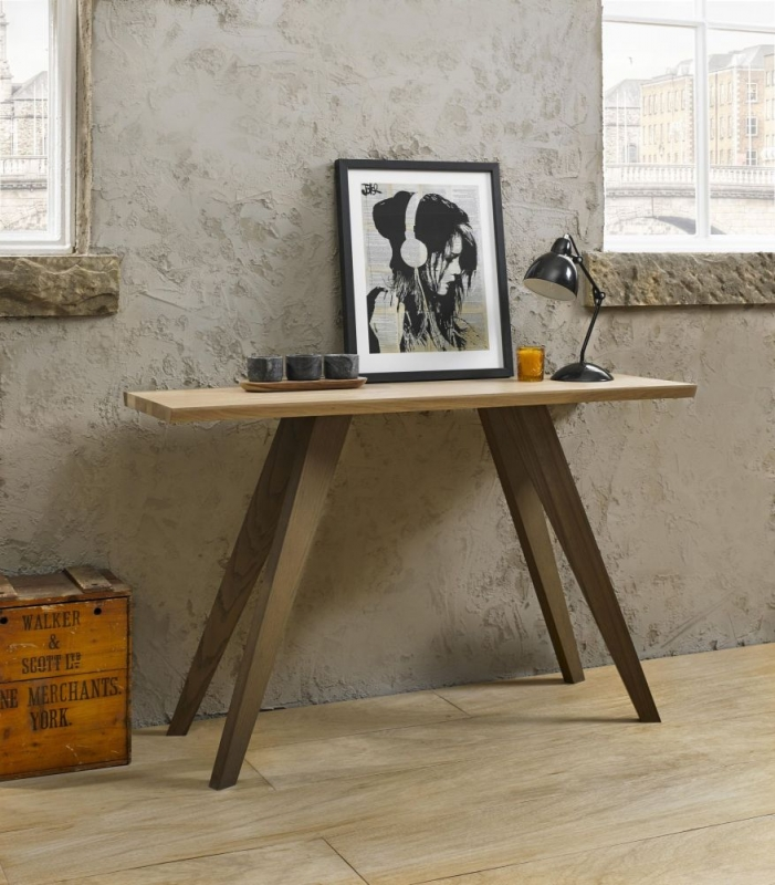 Bentley Designs Cadell Aged and Weathered Oak Console Table