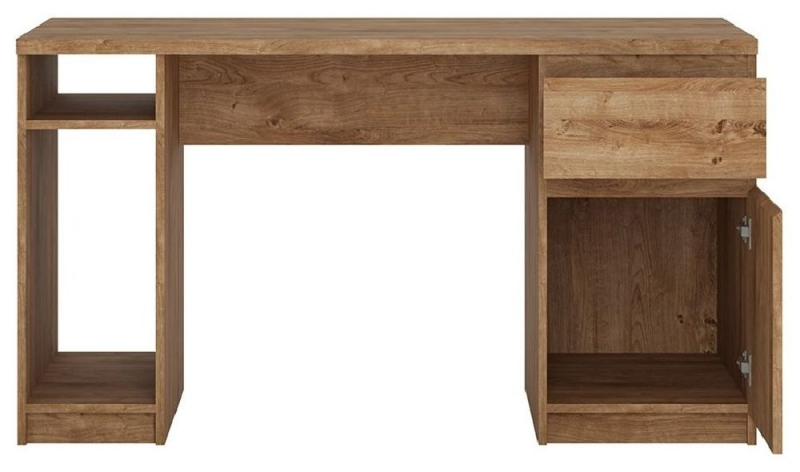 Fribo Oak Twin Pedestal Desk