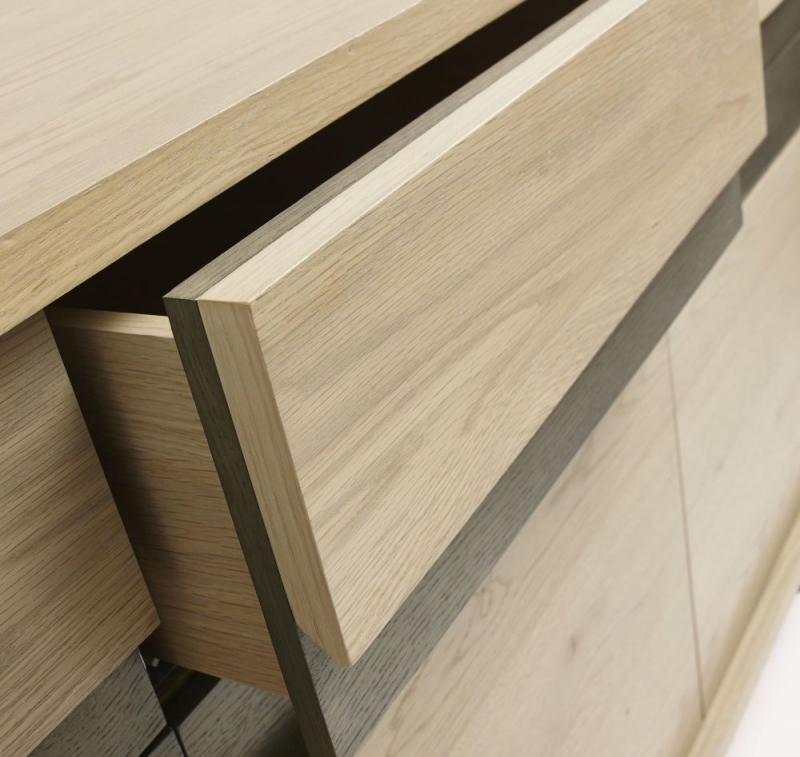 Bentley Designs Cadell Aged and Weathered Oak Sideboard - Wide
