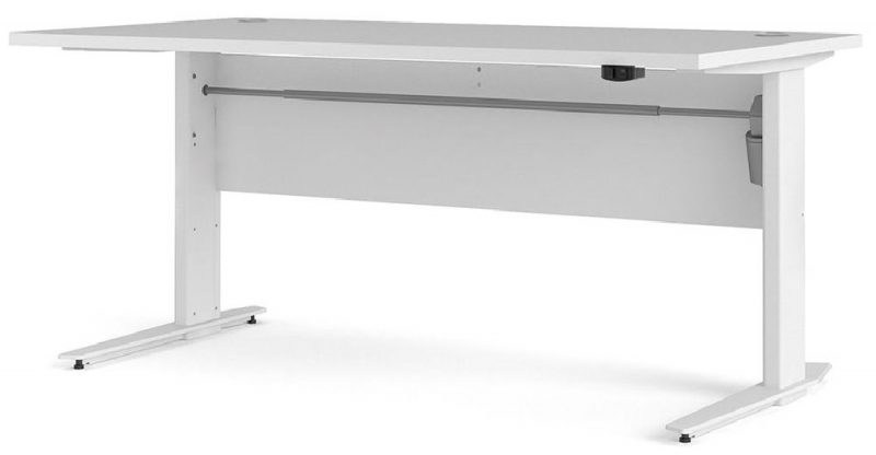 Prima White 150cm Desk with Electric Height Adjustable Leg