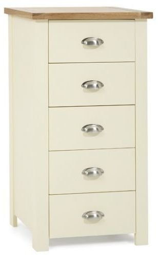 Mark Harris Sandringham Oak and Cream 5 Drawer Tall Chest