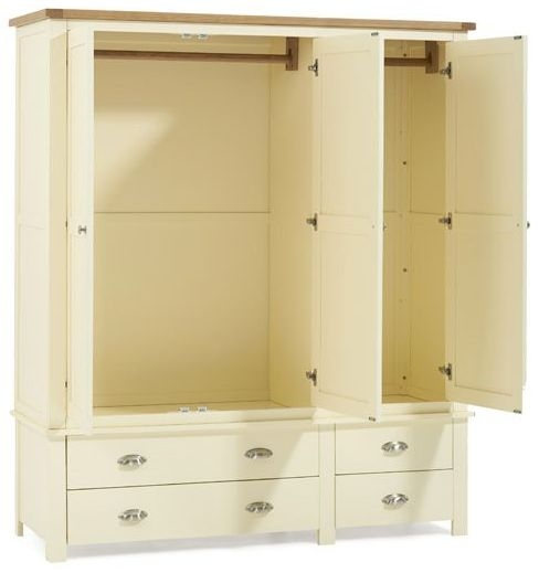 Mark Harris Sandringham Oak and Cream 3 Door Triple Wardrobe