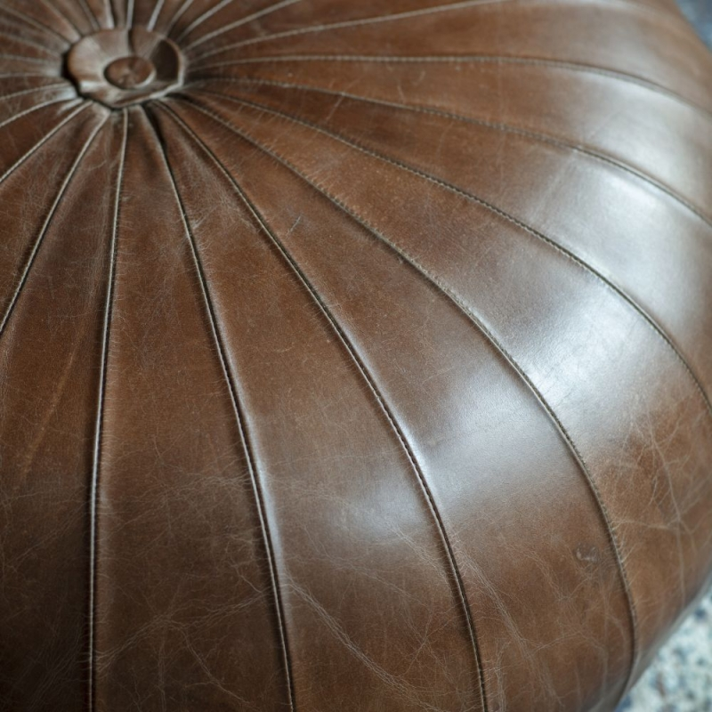 Gallery Banbridge Leather Pouffe
