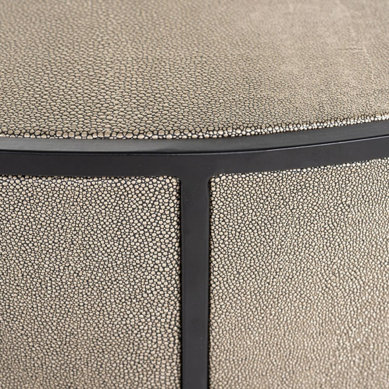 Lustrio Shagreen Faux Leather Coffee Table