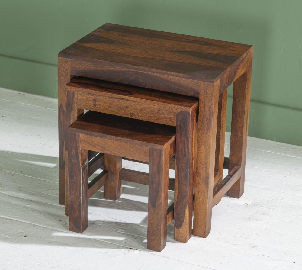 Jali Indian Sheesham Wood Nest of Tables