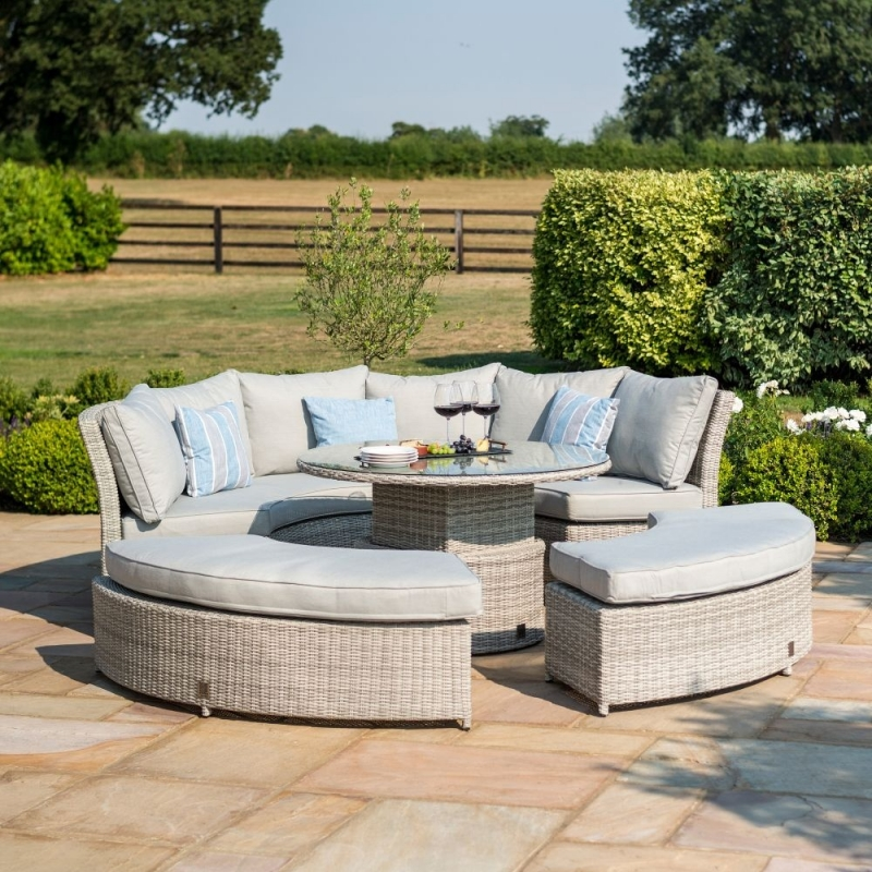 Maze Rattan Oxford Lifestyle Suite with Rising Table