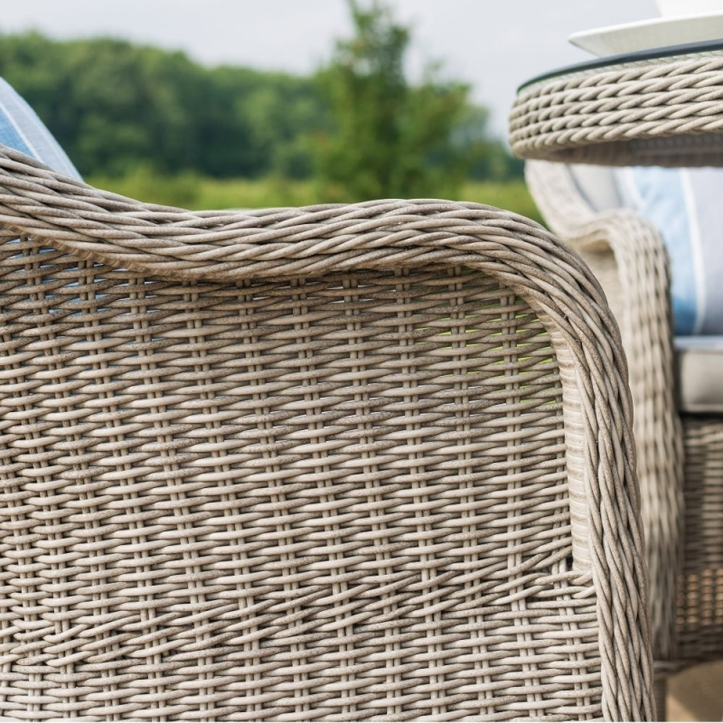 Maze Rattan Oxford Heritage 4 Seat Round Dining Set