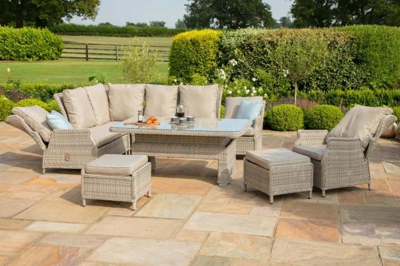 Maze Rattan Cotswold Reclining Corner Dining Set with Rising Table and Chair