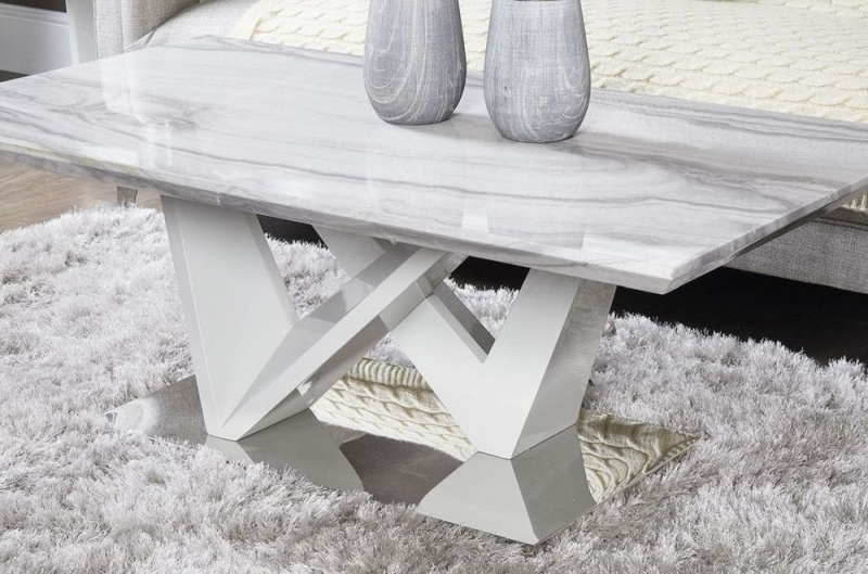 Clearance - Paradis Marble Effect Coffee Table - New - E-1