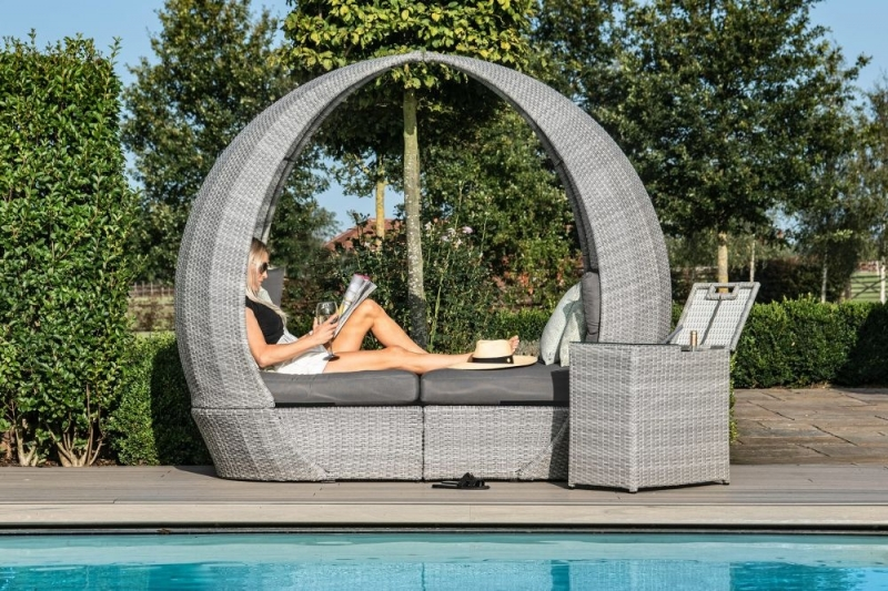 Maze Rattan Ascot Daybed with Weatherproof Cushions