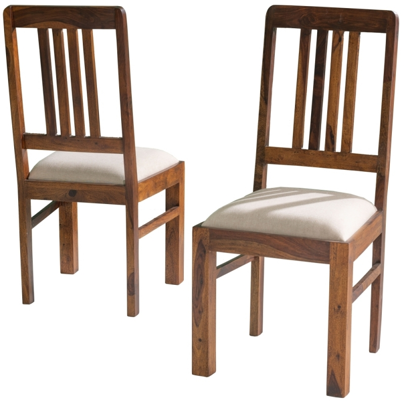 Jali Indian Sheesham Wood Dining Chair with Seat Pad