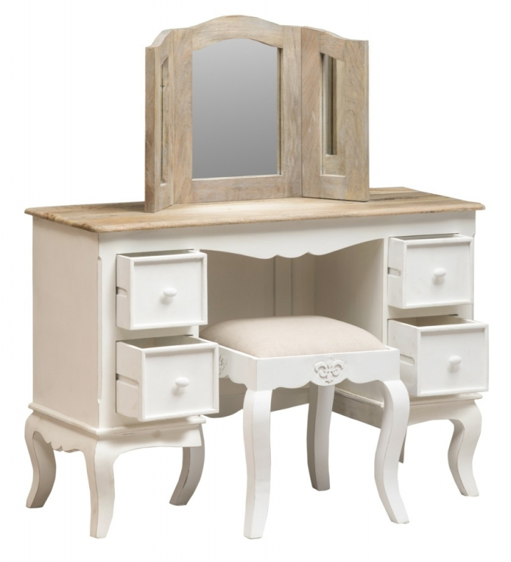 Urban Deco Fleur French Style Distressed Painted Dressing Table