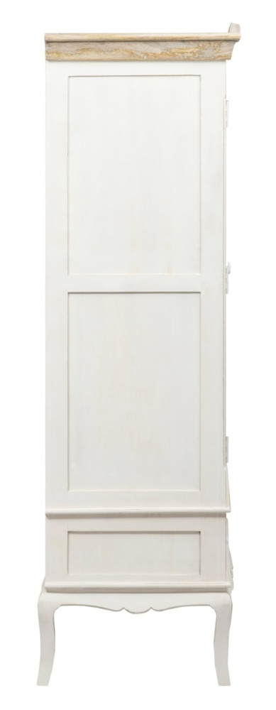 Urban Deco Fleur French Style Distressed Painted 2 Door Double Wardrobe