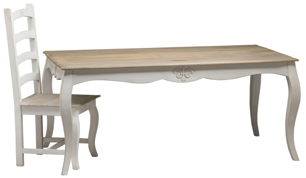 Urban Deco Fleur French Style Distressed Painted 175cm Large Dining Table