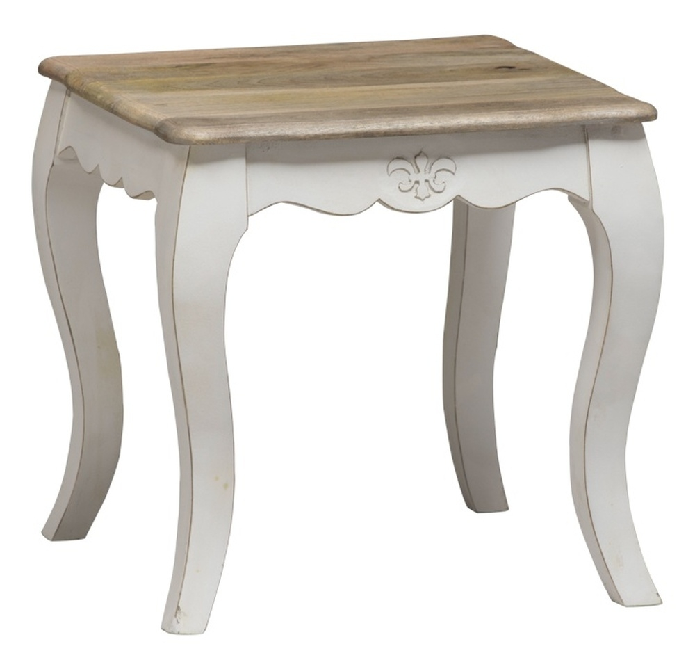 Urban Deco Fleur French Style Distressed Painted Lamp Table