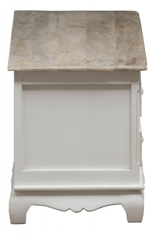 Urban Deco Fleur French Style Distressed Painted Plasma TV Cabinet