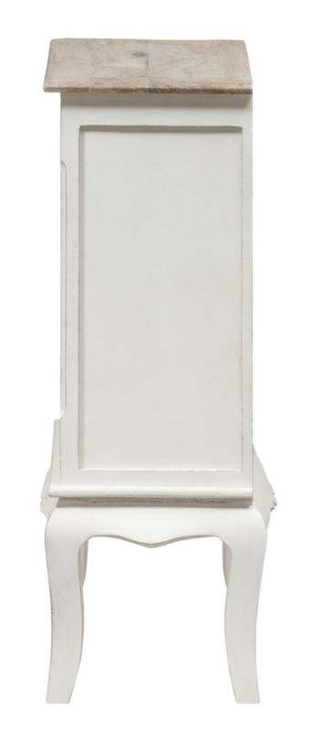 Urban Deco Fleur French Style Distressed Painted Small Bookcase
