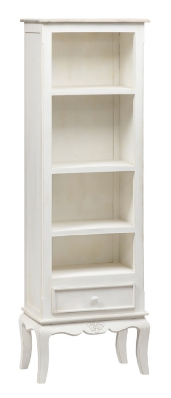 Urban Deco Fleur French Style Distressed Painted Slim Bookcase