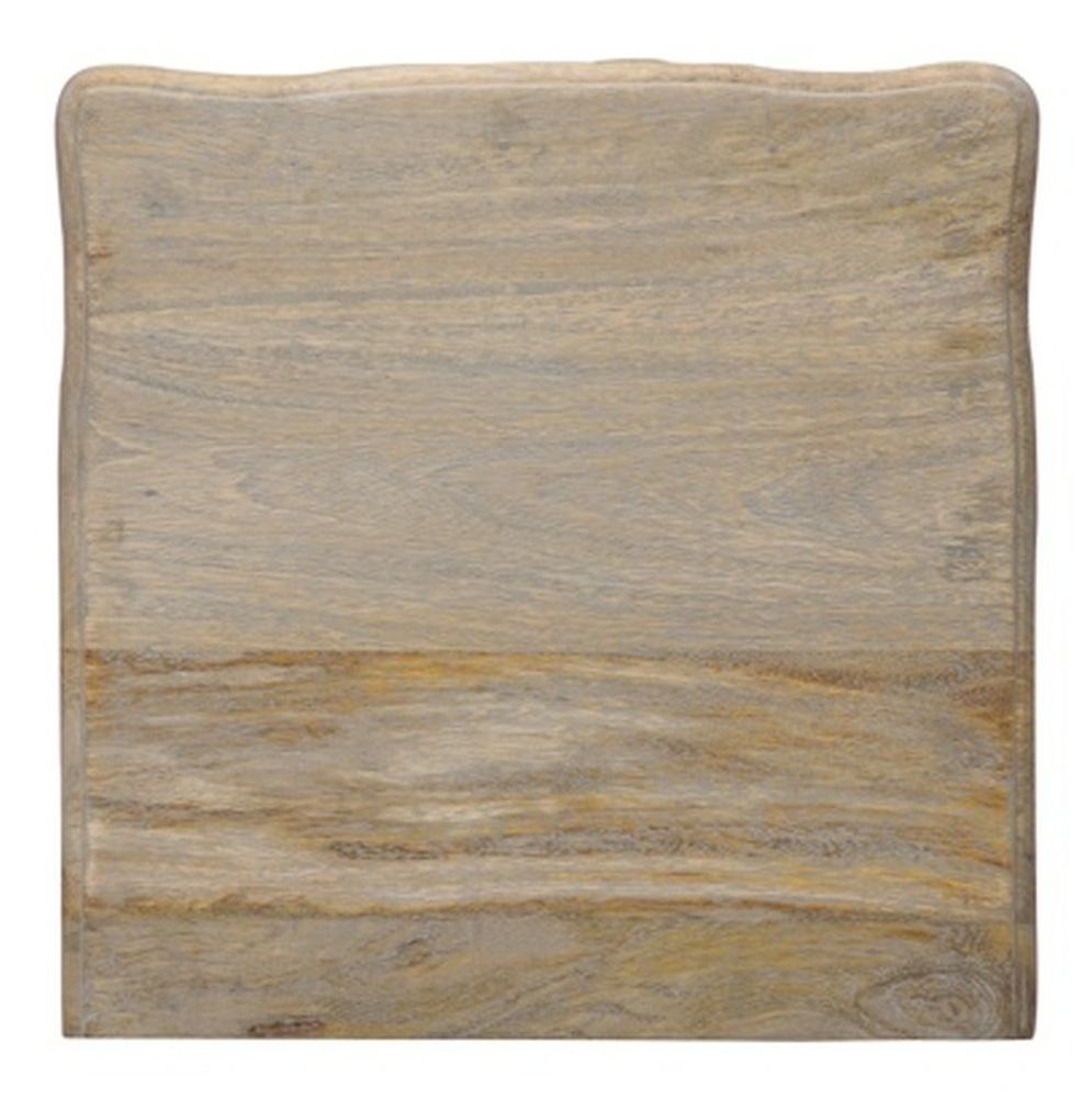 Urban Deco Fleur French Style Rustic Mango Wood Grey 5 Drawer Tall Chest