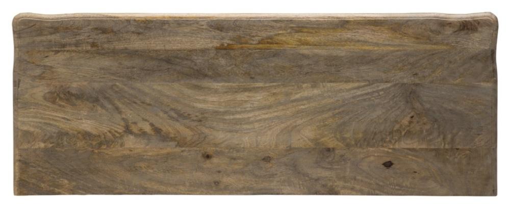 Urban Deco Fleur French Style Rustic Mango Wood Grey Dressing Table