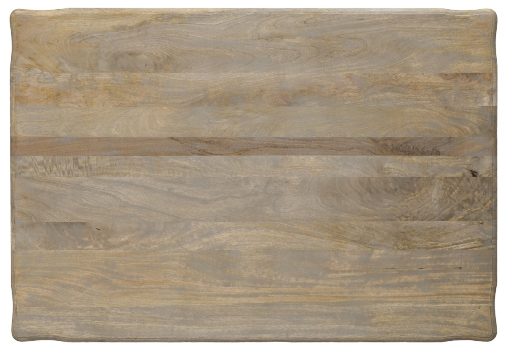 Urban Deco Fleur French Style Rustic Mango Wood Grey 135cm Dining Table