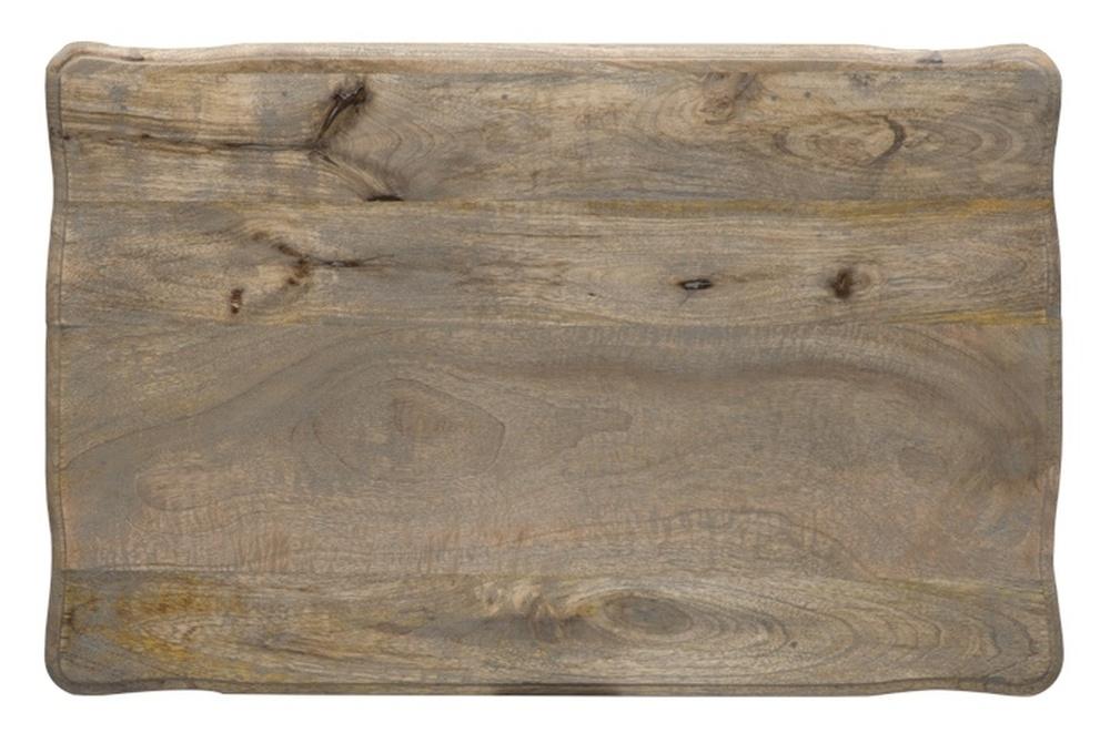 Urban Deco Fleur French Style Rustic Mango Wood Grey Nest of 3 Tables