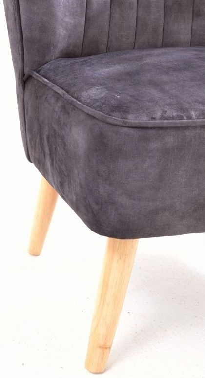 Ancient Mariner Cromarty Charcoal Ribbed Back Chair