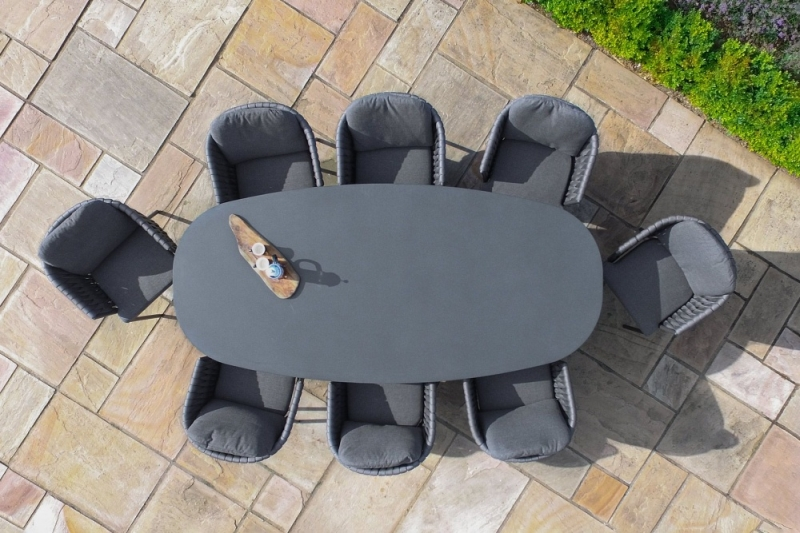 Maze Rattan Marina 8 Seat Oval Dining Table