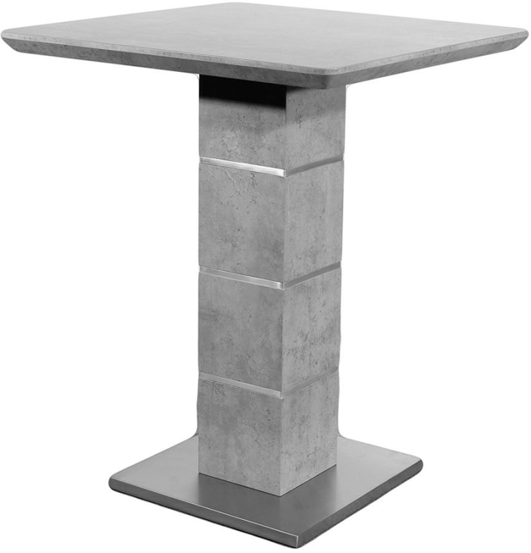 Clearance - Delta Concrete Bar Table and 2 Seattle Grey Stool - New - FS978