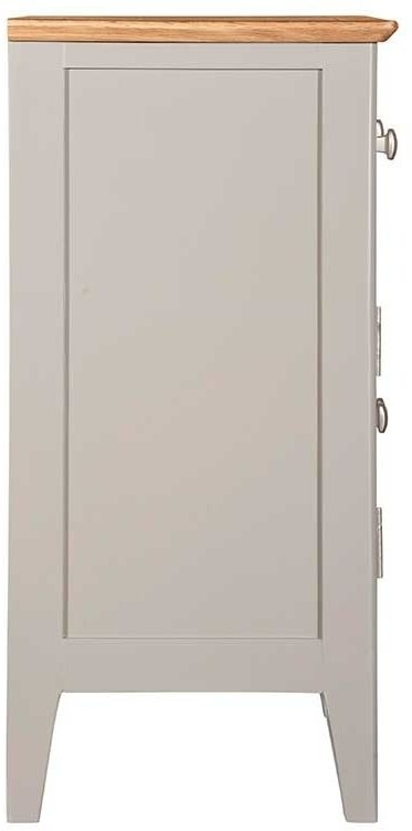 Clearance - Lowell Oak and Grey Painted 2 Door 1 Drawer Sideboard - New - FS1174