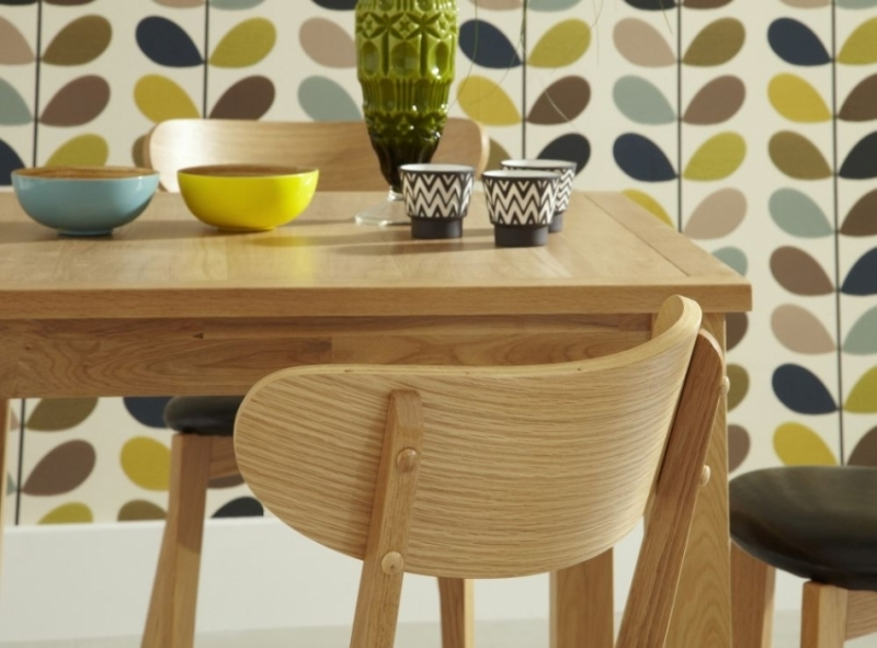 Clearance - Serene Lambeth Oak Square Dining Table - New - FS1028